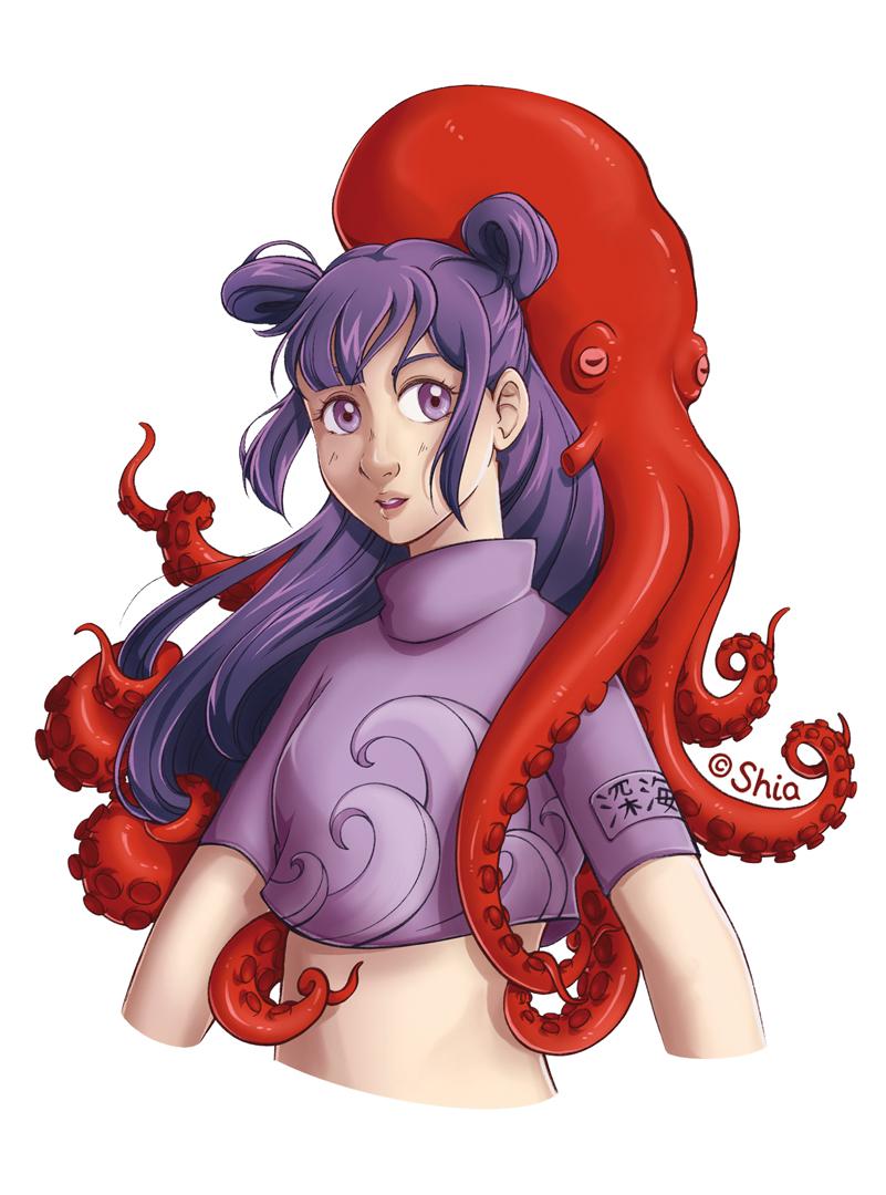 Mädchen mit Oktopus
